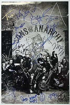 """Sons Of Anarchy Multi-Signed   Pre-Printed Autograph  8""""x6"""" Metal Plaque"""