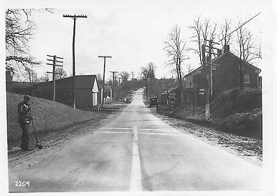 6GG737 RP 1931/1960s GLEN MORRIS MD WESTERN MARYLAND RAILROAD STATION TO RIGHT