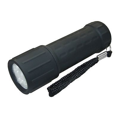 New 9 LED Glow In The Dark White Torch Pocket Flashlight Camping Ultra Bright