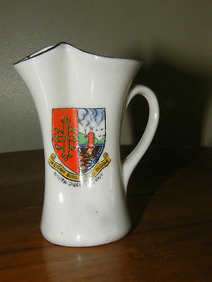 VINTAGE ARCADIAN CRESTED CHINA PINCHED JUG ~ South Queensferry (Scotland)