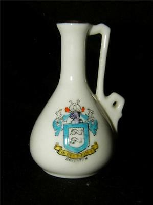 Antique Crested China Ewer  ~  Brighton