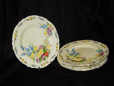 Full Set of Six Vintage Crown Staffordshire Side Plates ~ Design 715350