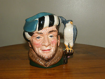 ROYAL DOULTON CHARACTER JUG ~ THE FALCONER D6540 ~ SMALL SIZE  *Retired*
