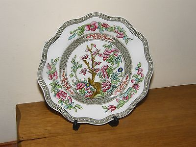 "ANTIQUE COALPORT ""INDIAN TREE"" TEA PLATE with SCALLOPED EDGES"