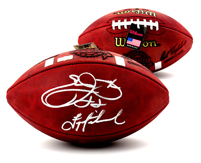 05b0759ab30 Troy Aikman   Emmitt Smith Autographed Signed Authentic Super Bowl 28  Football