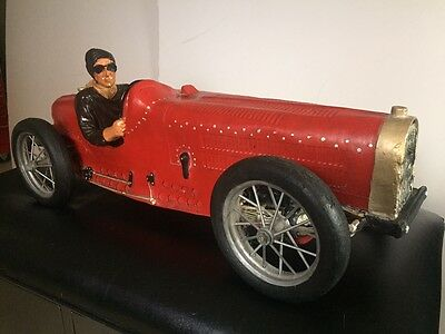 Large 1934 Bugatti 59 Grand Prix Resin Race Car & Driver