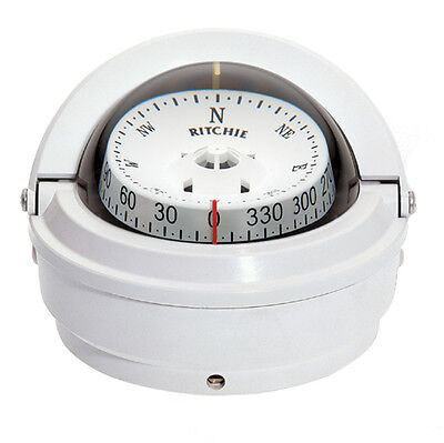 Ritchie S-87W Voyager Compass - Surface Mount - White -S-87W