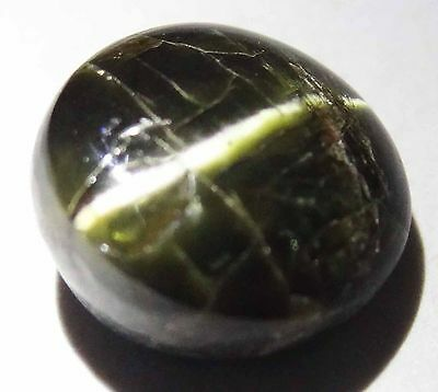 KORNERUPINE CATS EYE Natural 5.10 CT 10.14 MM Rare Round Cabochon Gem 14010544-Q