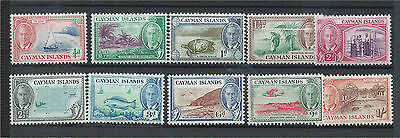 Cayman Islands 1950 Set of Mint to 1/- (10) SG135/44
