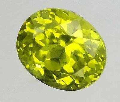 CHRYSOBERYL Natural Vibrant Yellow Loose Gemstones Oval Cut Loose Ring Stones-Q