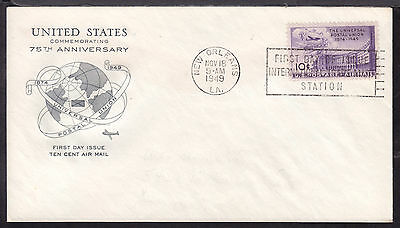 1949 NEW ORLEANS, LA., #C42 10c on UPU AIR POST FIRST DAY CACHET