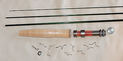 IM6, 3 PC, 2 WT, 7 FT FLY ROD KIT, 1 TIP, TRANSLUCENT GREEN, by Roger
