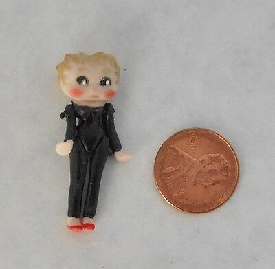 Doll house Miniature Betty Boop Jointed Porcelain Doll Hand made Dollhouse 1.5""