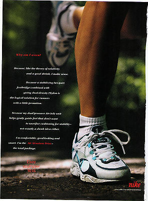 "1998 Nike 'Why am I Worn' Series ""Air Structure Triax"" Running Shoe Print Ad"