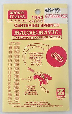 "Z Scale N-3 Centering Spring for Med. Thick ""T"" Shank Couplers MT 4, 6, 8 (12pk)"