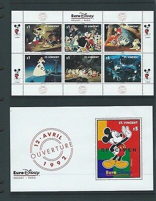 St Vincent 1992 UMM Opening of Euro-Disney Resort Park Sheetlets