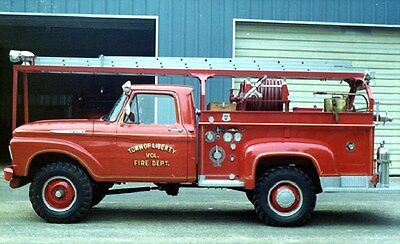 1965 Ford Howe Fire Truck Viola Wisconsin Factory Photo ca6216