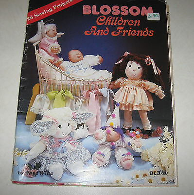 BLOSSOM CHILDREN AND FRIENDS by FAYE WINE  Uncut Patterns soft sculpture doll