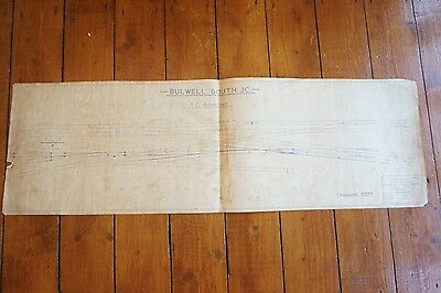 Bulwell South Junction Railway Track Plan Diagram 75cm x 24cm
