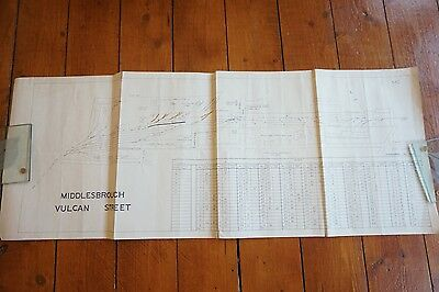 1965 Middlesbrough Vulcan Street Goods Yard Railway Track Plan Diagram