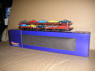 (268B) Roco 46999 (?) German DB Laes car carrier with 10 cars
