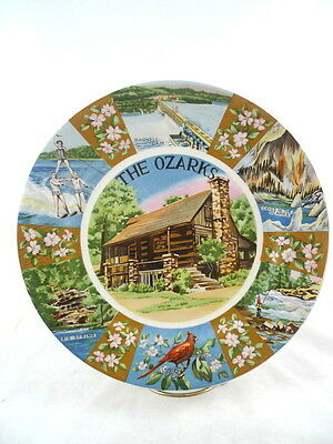 OZARKS Collector Souvenir Plate Arkansas Missouri COLORFUL