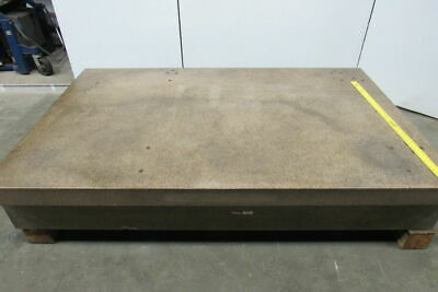 "HERMAN GRANITE 96""x60""x15"" Pink & Pepper Surface Plate 2 Ledge 8150 Lbs!"