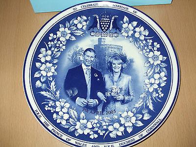 Wedgwood Royalty Plate Marriage of Prince Charles and Camilla 9th April 2005