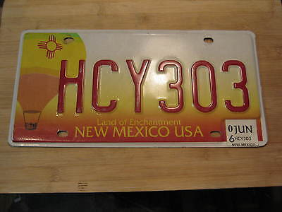 2006 New Mexico Hot Air Balloon License Plate Expired Hcy 303