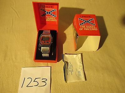 "Vintage 1981 Unisonic ""The Dukes of Hazzard"" LCD Quartz Watch in Box"