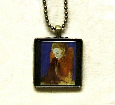 Pablo Picasso Art Woman With Crow Bronze Pendant Necklace Artisan Crafted