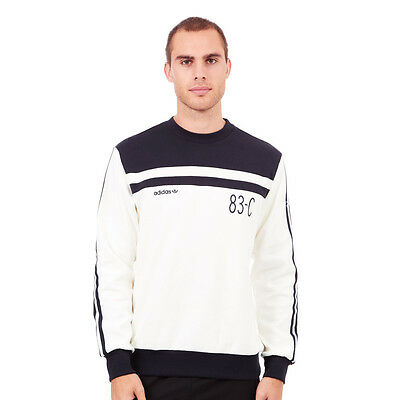 adidas - 83-C Crewneck Sweater Off White / Legend Ink Pullover Rundhals