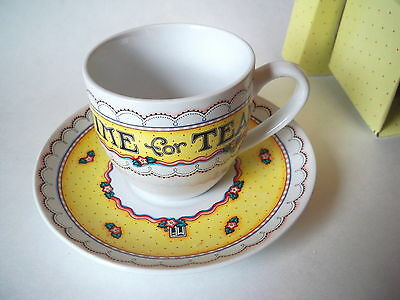 Mary Engelbreit Time For Tea  Cup & Saucer Set  Andrews McMeel