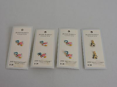 JHB International Peter Rabbit Collection Vintage Buttons Jemima Puddle Duck Lot