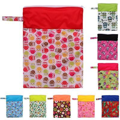Waterproof Zip Baby Infant Cloth Diaper Nappy Pouch Bag Travel Organizer