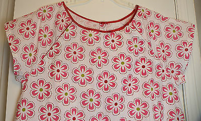 Gownies 100% Cotton Pink Flowers Maternity Delivery Hospital Gown Size S M