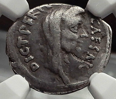 JULIUS CAESAR Lifetime 44BC Portrait Ancient Silver Roman Coin Venus NGC i58211
