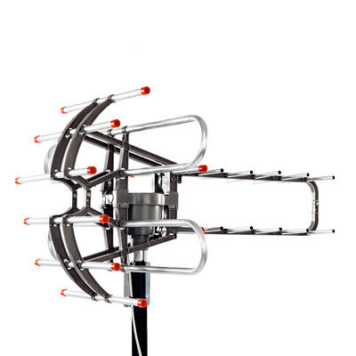 New HDTV Outdoor Amplified HD TV Antenna Digital UHF/VHF FM Radio 150 Miles