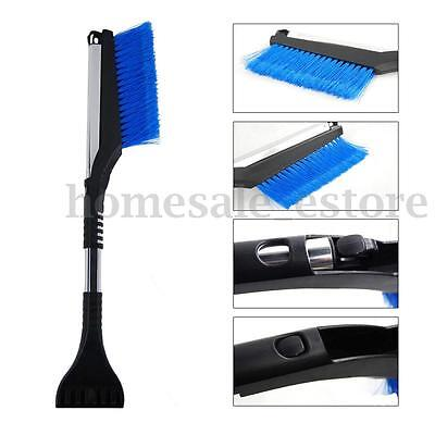 Car Truck Cleaning Windshield Ice Scraper Snow Brush Broom Retractable Tool