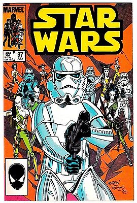 STAR WARS #97 (NM-) Cool Stormtrooper Cover! Marvel 1985 High Grade! LQQK!