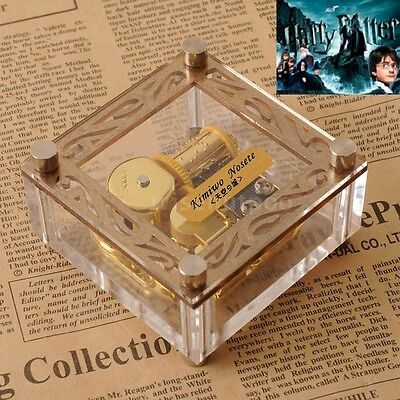 JAPAN SANKYO ACRYLIC CUBIC MUSIC BOX ♫ Harry Potter Hedwigs Theme ♫