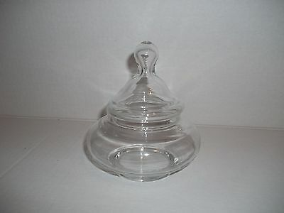 Vintage Small Glass Apothecary Jar Squat Candy Buffet Bar Wedding Tiered