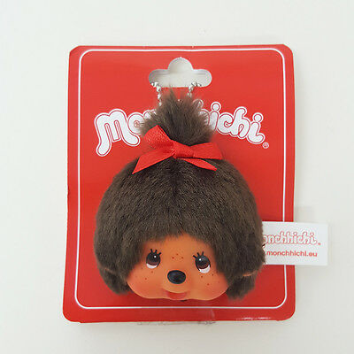 Sekiguchi Monchhichi Head Keychain Face Badge Mascot - MCC Girl ~~ NEW ARRIVAL ~