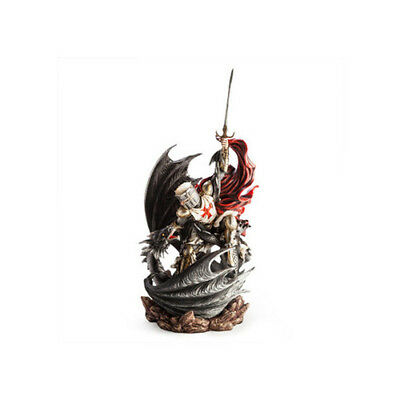 Black Dragon Crusader Soldier Fighter Ornament Knight Armour Collection Decors