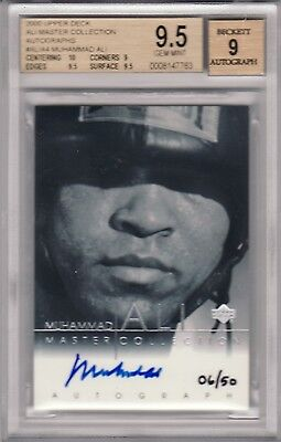 Muhammad Ali 2000 Upper Deck Master Collection On Card Auto #06/50 Bgs Mint 9.5