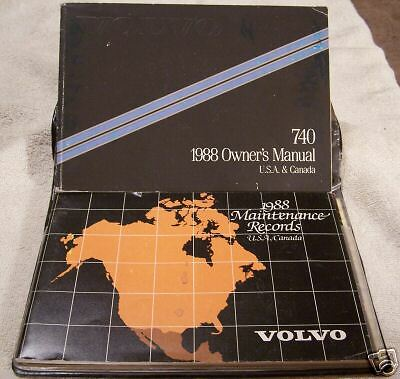 **LOOK** 1988 Volvo 740 Owners Manual Set With Case 88