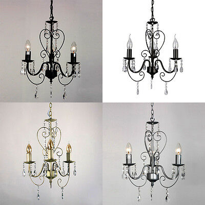 MiniSun Traditional 3 Way Lille Ceiling Light Pendant Chandelier Fitting Light