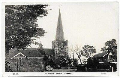 [1886] Middlesex R/P Postcard St Mary's Church Stanwell