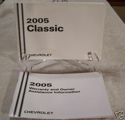 **LOOK** 2005 Chevrolet Classic Owners Manual Set 05
