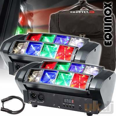 Equinox Onyx Compact 8 x 3w RGBW Sweeping Beam Lighting Effect Disco FX Package